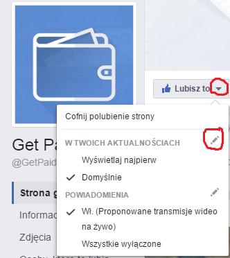 Obrazek ustawienia fanpage - getpaid20.pl