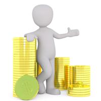 Obrazek - pieniądze monety bogactwo - getpaid20.pl
