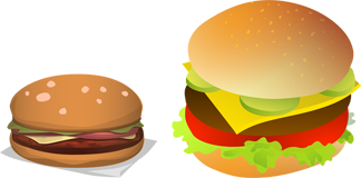 Obrazek - hamburger cheeseburger burger up-selling - getpaid20.pl