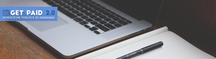 Obrazek - laptop notatnik praca w domu - getpaid20.pl