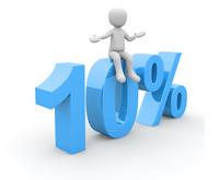 Obrazek - 10%, prowizja, procent, zysk - getpaid20.pl
