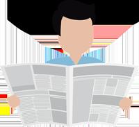 Obrazek - człowiek czytanie gazety - getpaid20.pl