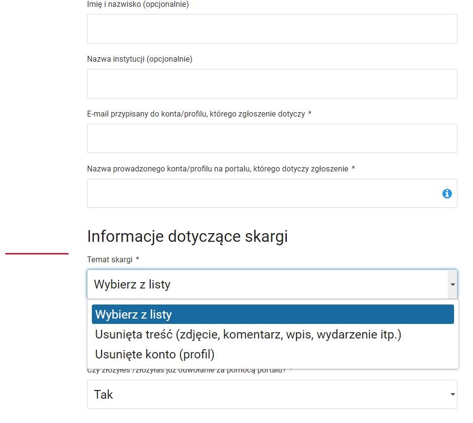 Obrazek - kontakt z fb poprzez odwołanie w ministerstwie cyfryzacji - getpaid20.pl