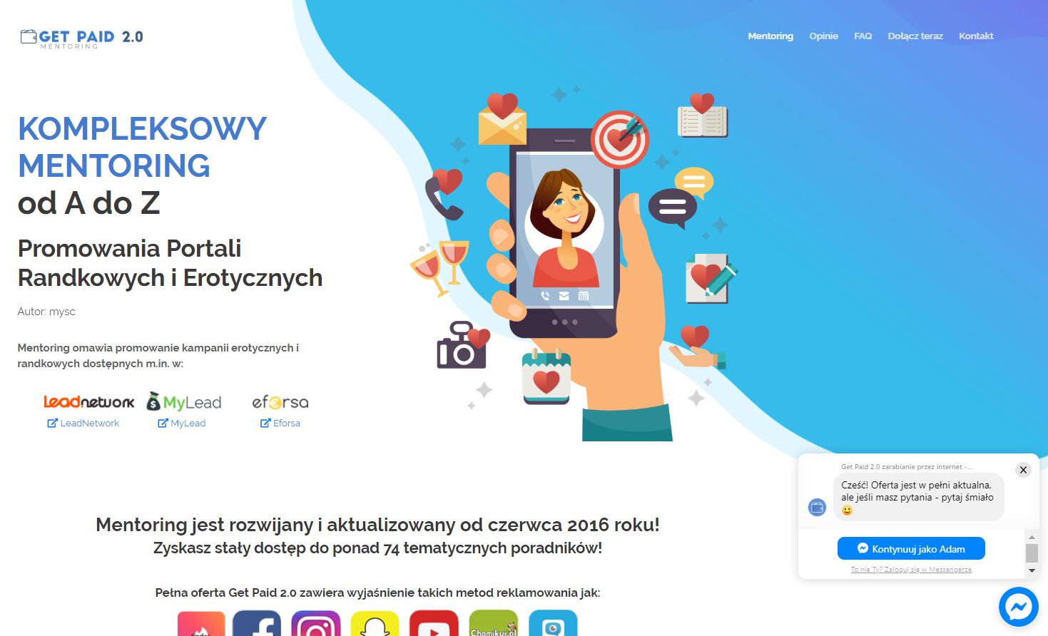 Obrazek - Landing Page przykład 1 - getpaid20.pl