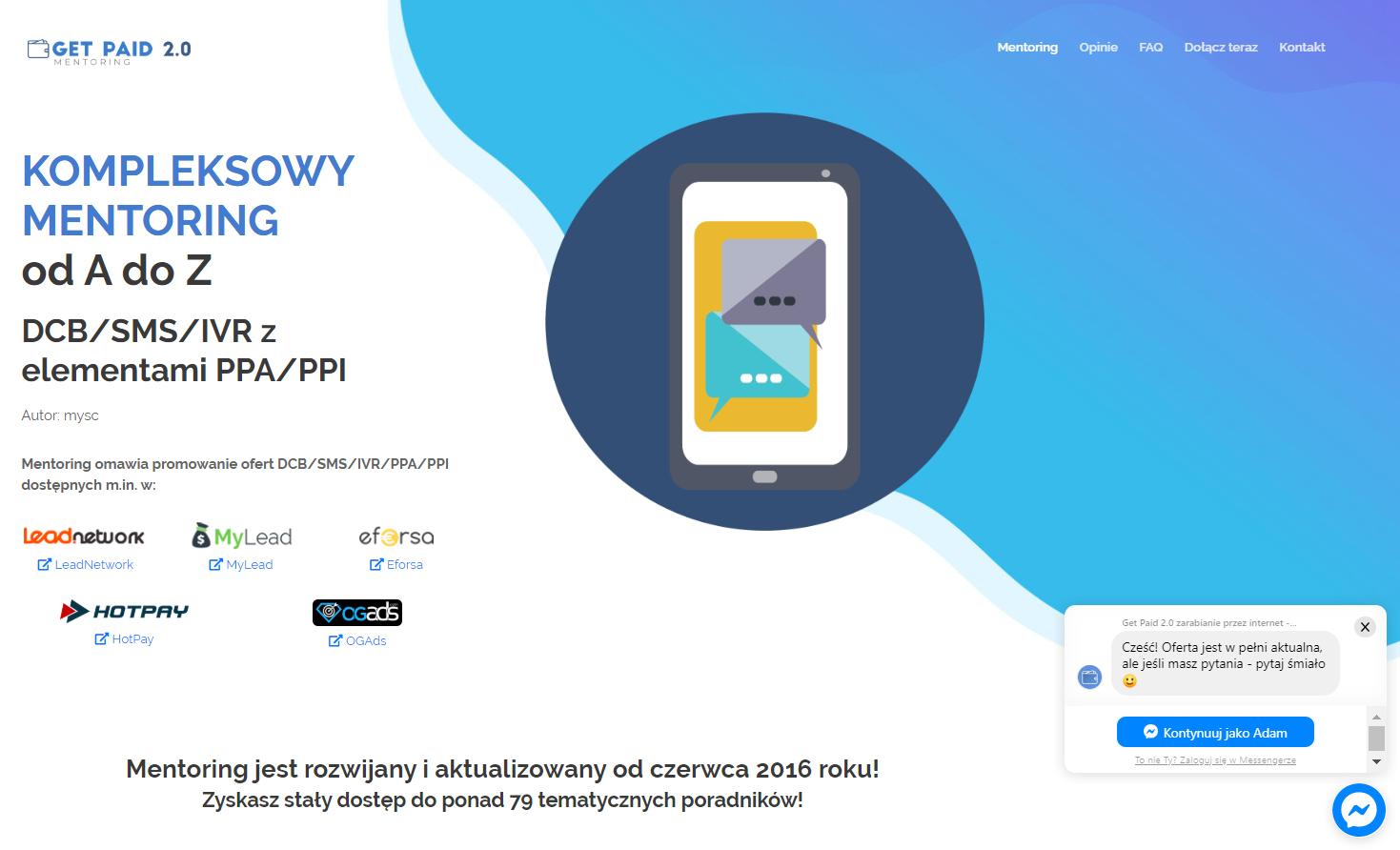 Obrazek - Landing Page przykład 2 - getpaid20.pl