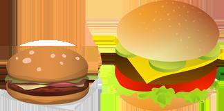 Obrazek - hamburger cheeseburger burger up-selling - getpaid20.pl